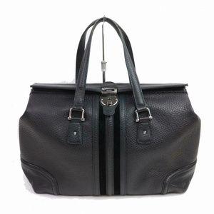 Auth Gucci Black Leather Shoulder Bag #1482G25